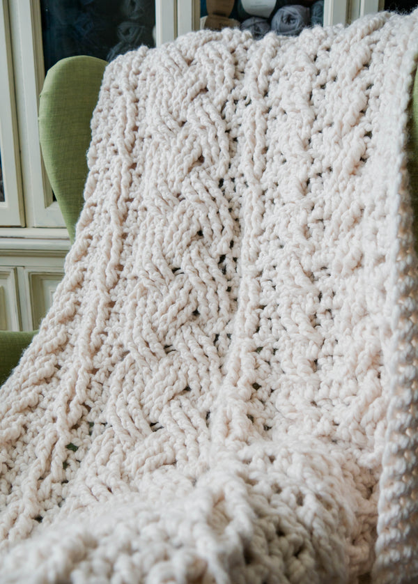 Crochet Kit - Heirloom Crochet Cabled Throw