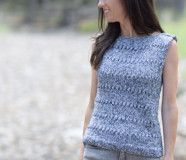 Knit Kit - Eyelet Sleeveless Top