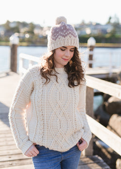 Crochet Kit - Meara Fisherman Sweater