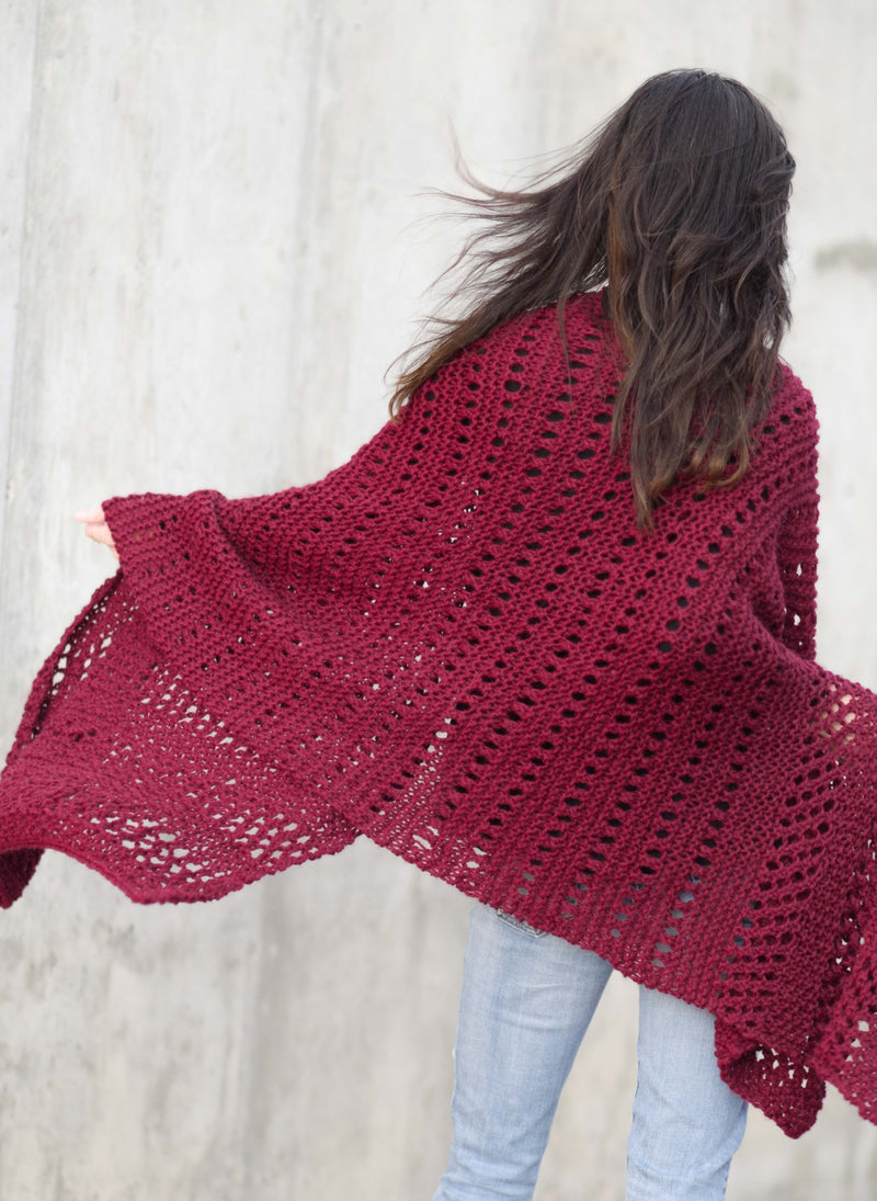 Knit Kit - Merlot Alpaca Wrap