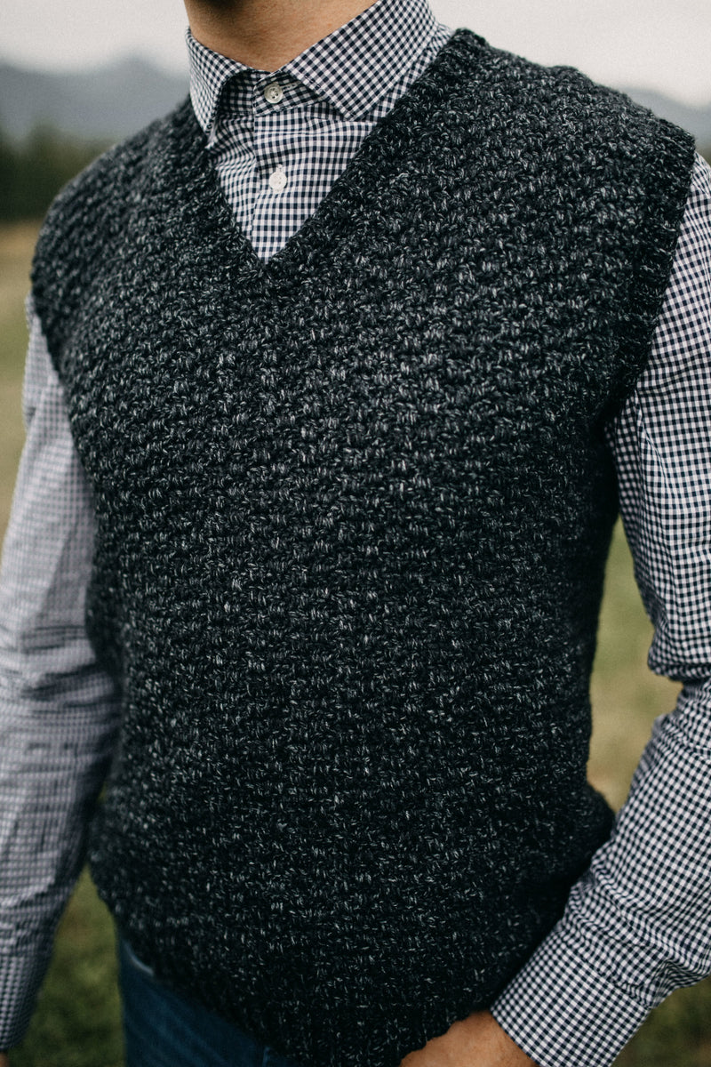 Crochet Kit - Summit Men's Sweater Vest