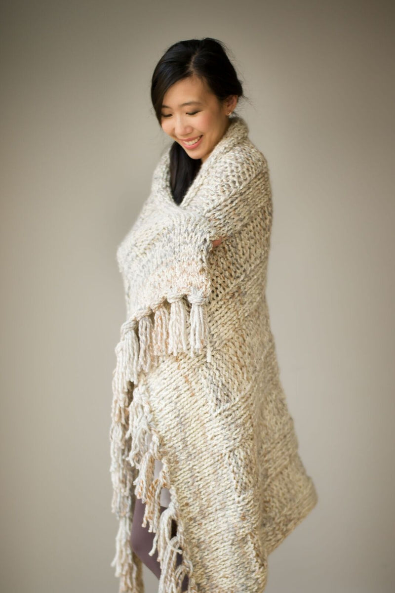 Knit Kit - Simple Chunky Ribbed Knit Blanket