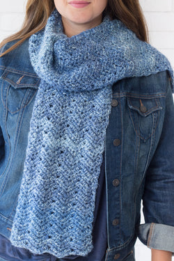 Crochet Kit - Luna Chevron Scarf