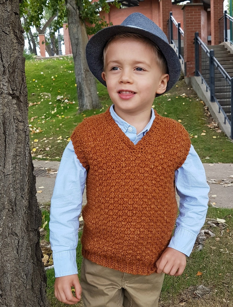 Crochet Kit - Summit Kids Sweater Vest