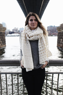 Crochet Kit - Snowfall on the Bowery Wrap