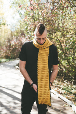 Crochet Kit - Honeycomb Scarf
