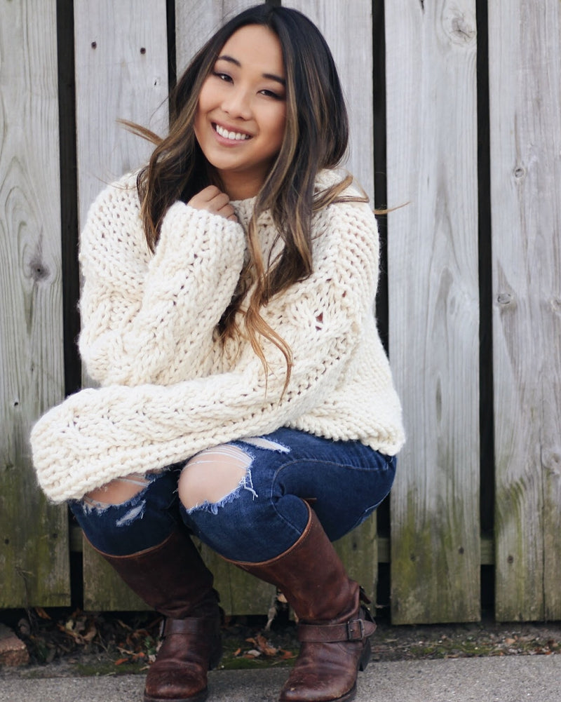 Knit Kit - Cozy Cable Knit Sweater