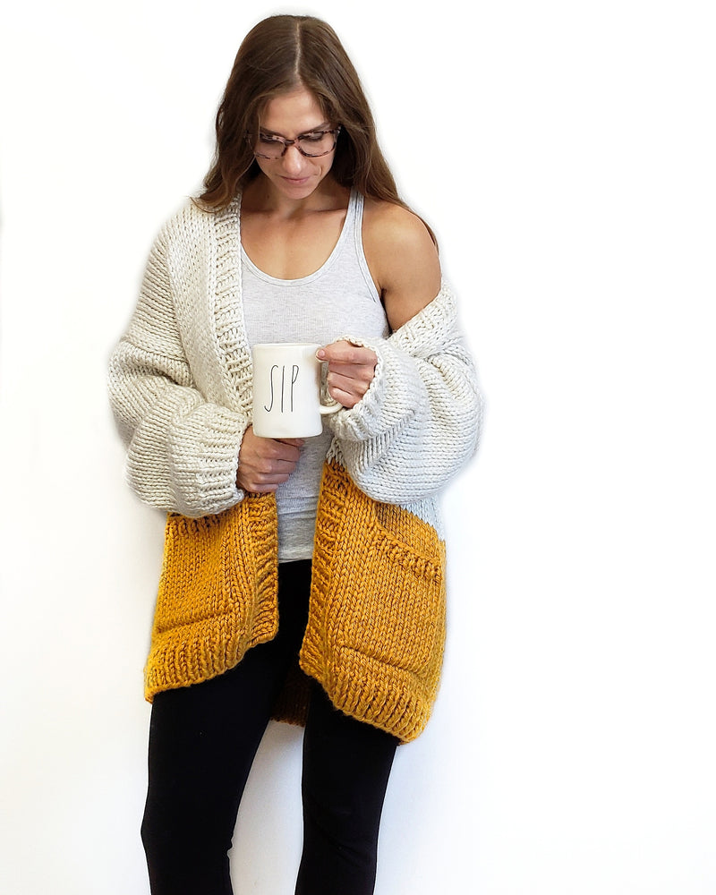 Knit Kit - Colorblock Cardi