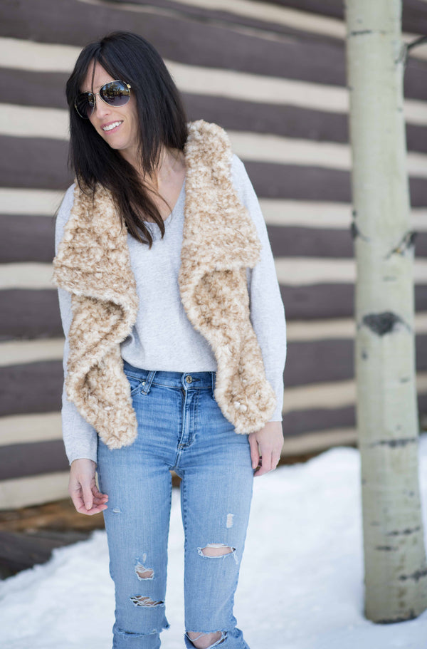 Crochet Kit - Faux Fur Vest