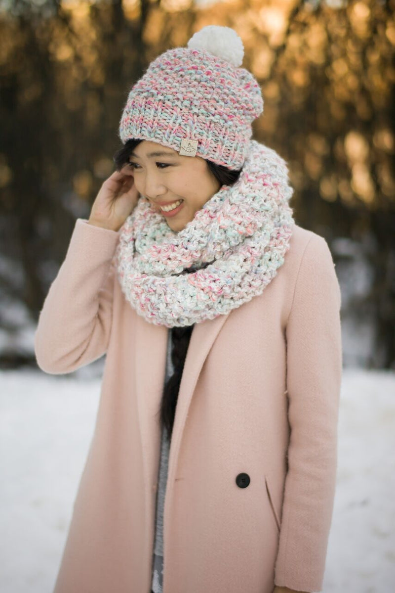 Knit Kit - Cotton Candy Cowl & Beanie