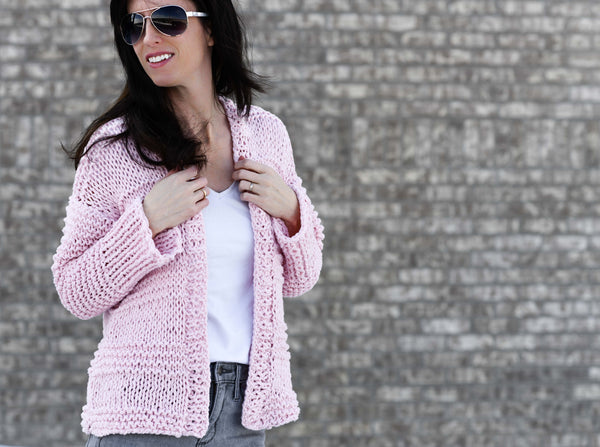 Knit Kit - Cotton Candy Cardigan