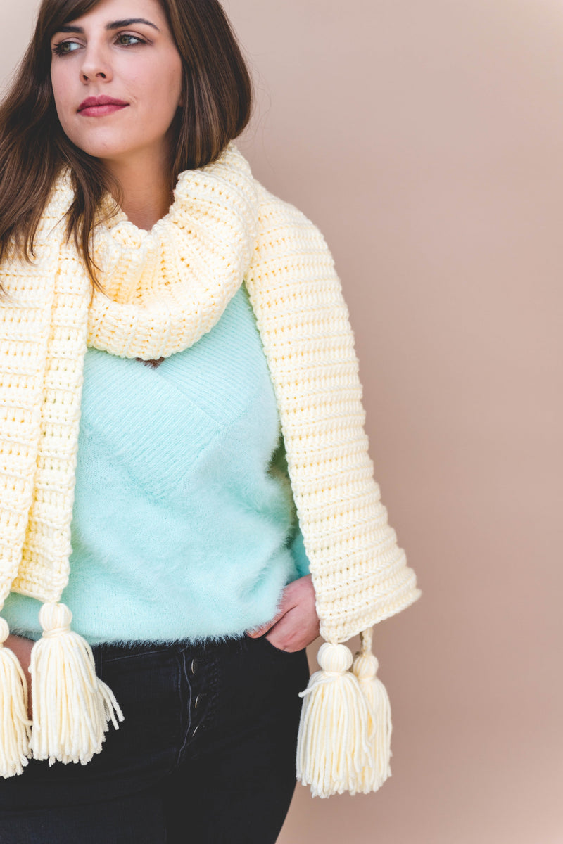 Crochet Kit - Vanilla Wrap Scarf