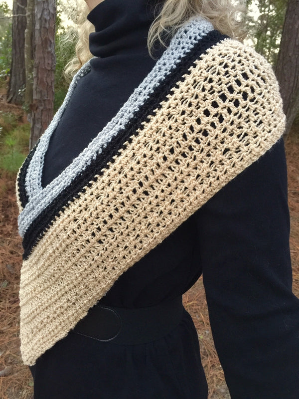 Crochet Kit - Champagne Wrap
