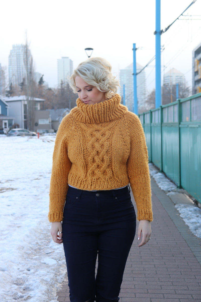 Knit Kit - Cozy Celtic Raglan