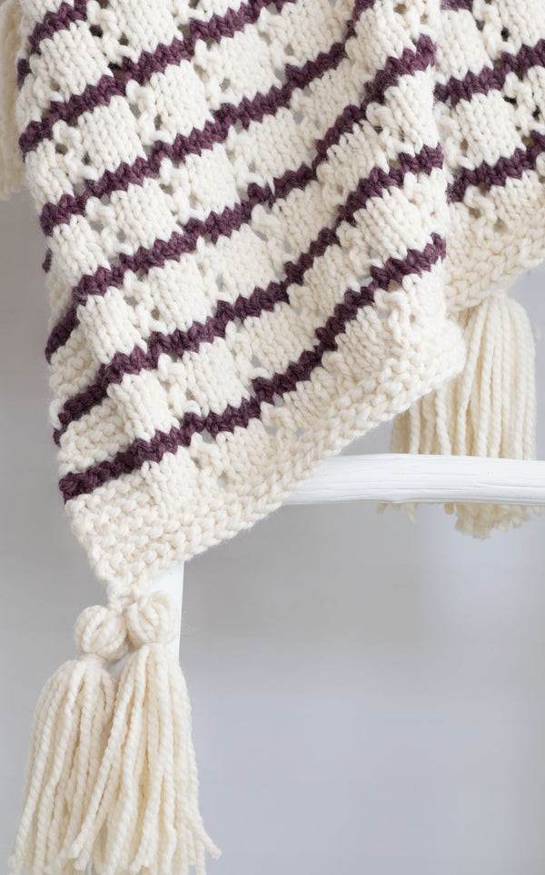 Knit Kit - Stripes & Eyelets Urban Blanket