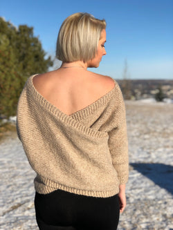 Knit Kit - Cross Back Sweater