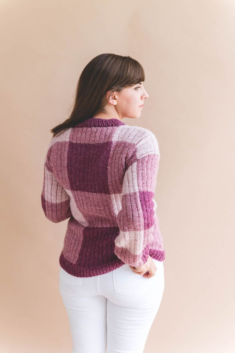 Knit Kit - Gingham Pullover