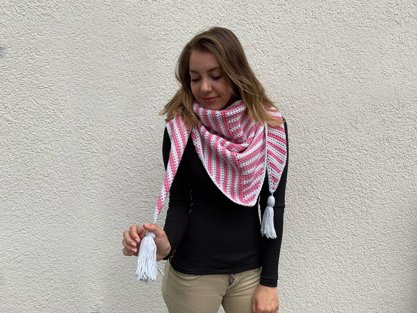 Crochet Kit - Stripe Me Shawl