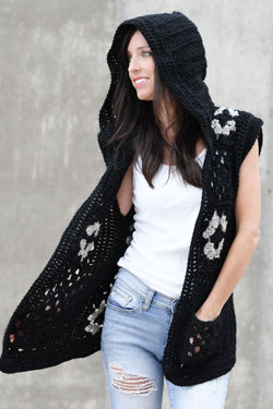 Crochet Kit - Hooded Granny Vest