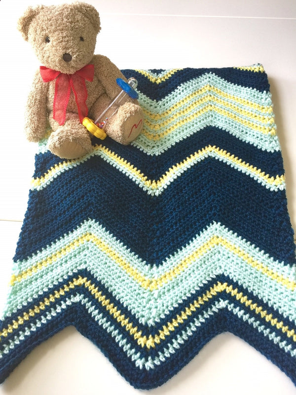 Crochet Kit - Starry Night Baby Blanket