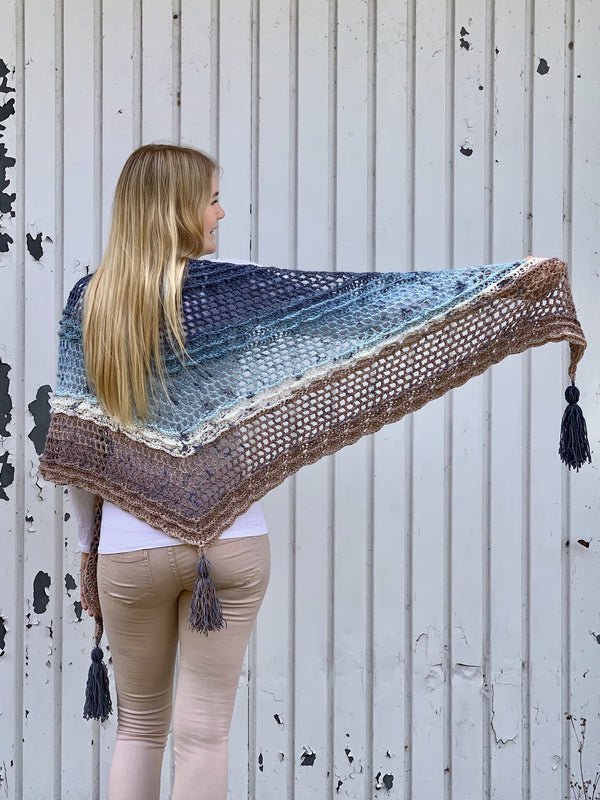 Crochet Kit - Shell Wave Shawl