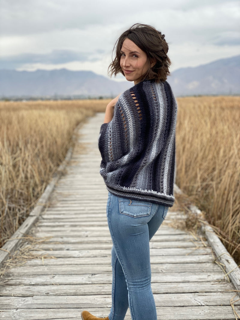 Crochet Kit - The Skyscape Shrug