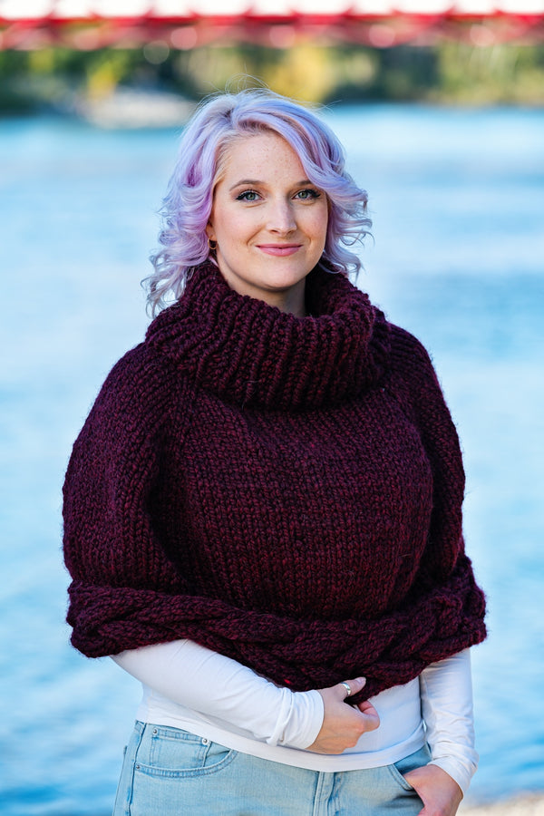 Knit Kit - Braided Poncho