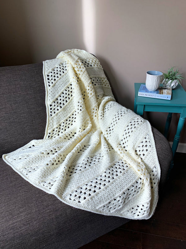 Crochet Kit - On the Bias Square Afghan