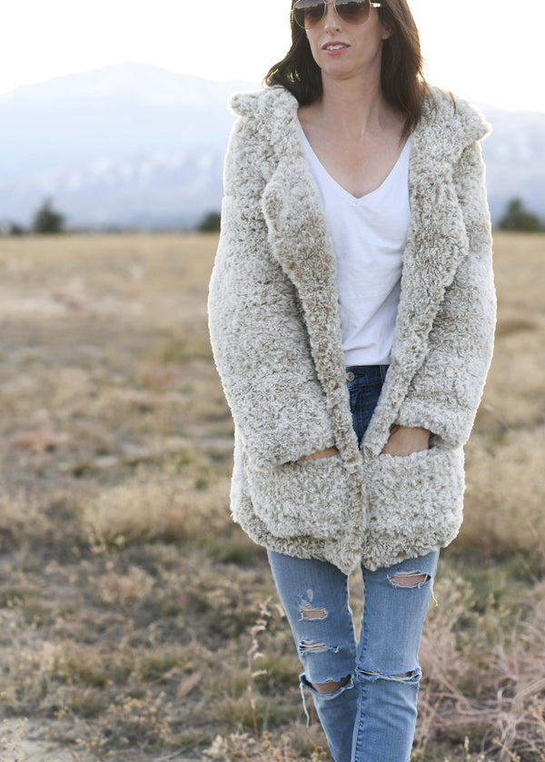 Crochet Kit - Faux Fur Coat