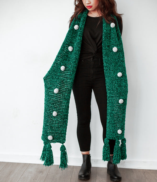 Crochet Kit - Chaos Emerald Scarf