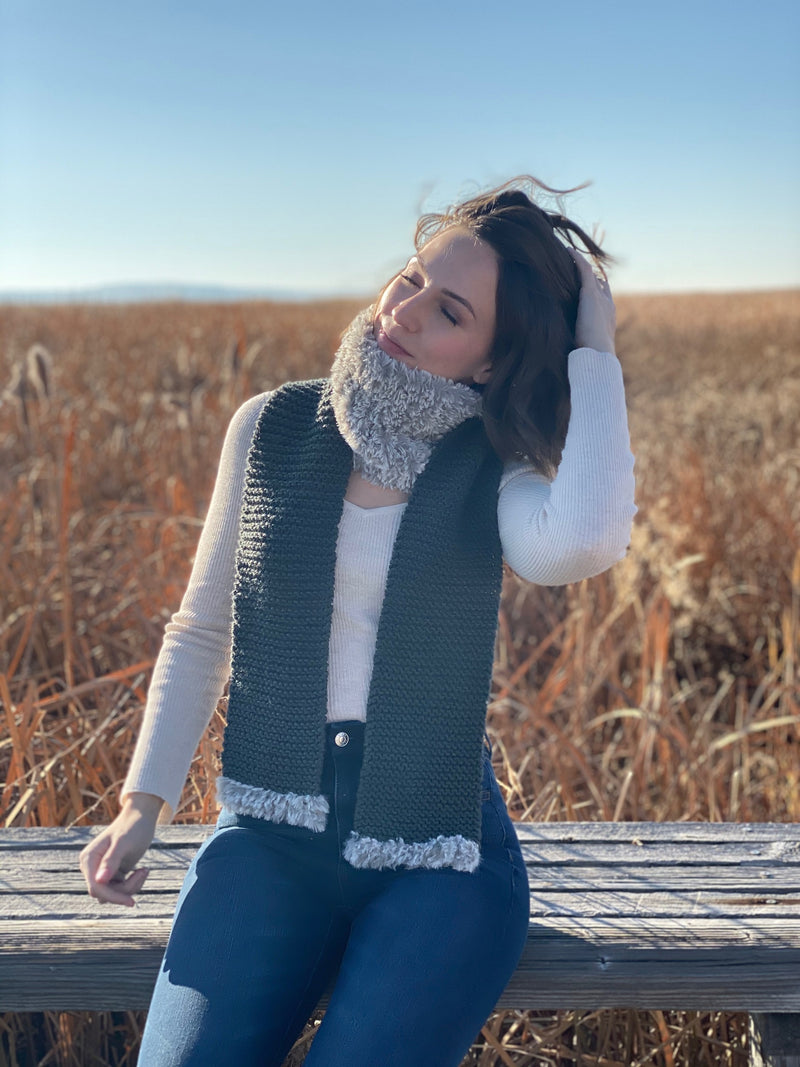 Knit Kit - The Fab Faux Scarf