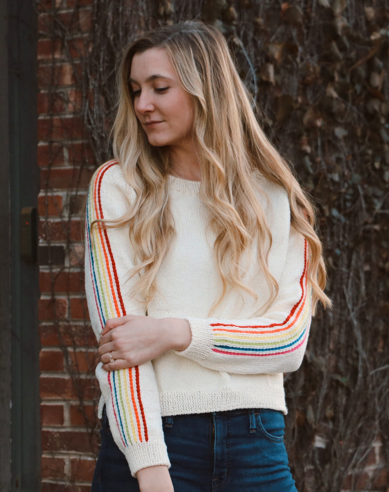 Knit Kit - Rainbow Stripe Sweater
