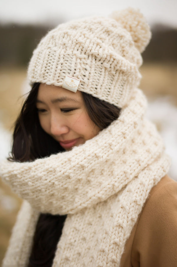 Knit Kit - Chunky Dotty Beanie and Scarf