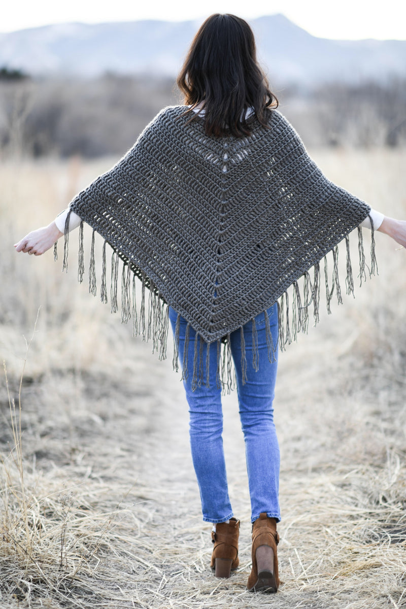 Crochet Kit - Trails End Seamless Poncho