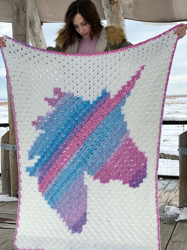 Crochet Kit - Unicorn Dreams Afghan