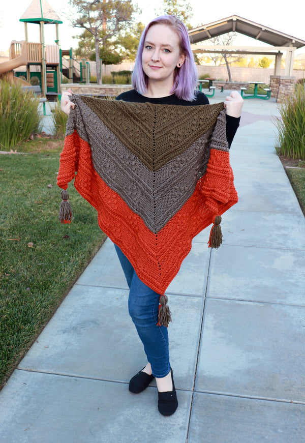 Crochet Kit - Olivia Triangle Shawl