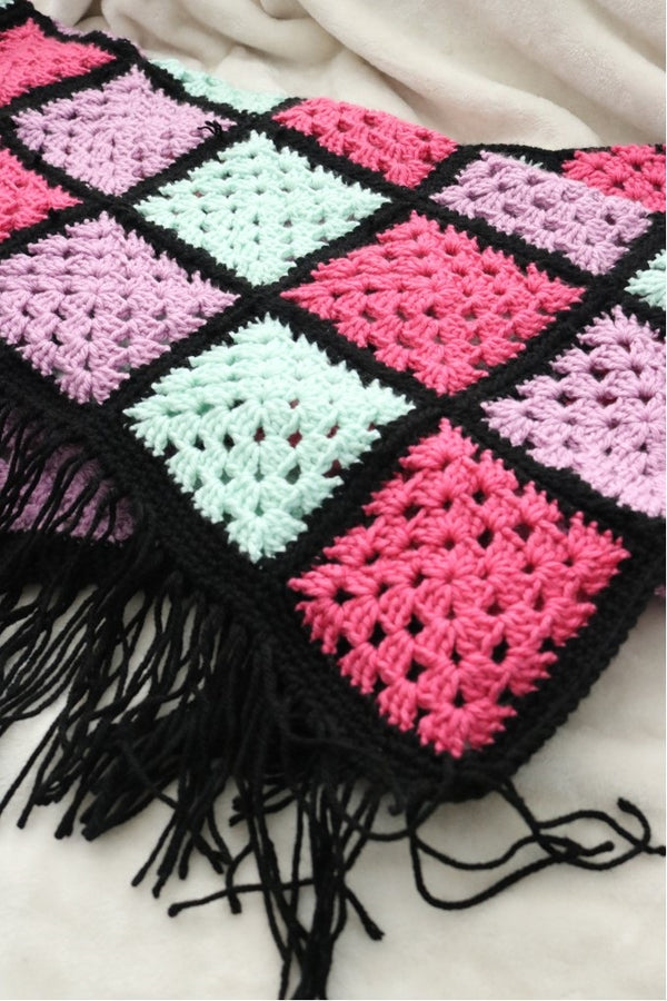 Crochet Kit - Granny Pop Afghan