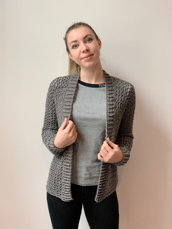 Crochet Kit - Touch of Merino Cardigan