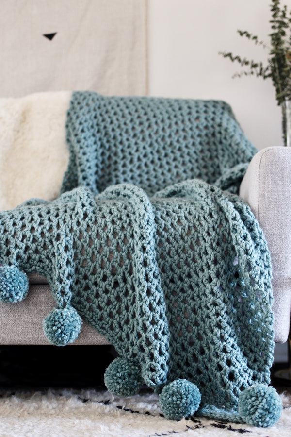 Crochet Kit - Celestial Poms Throw