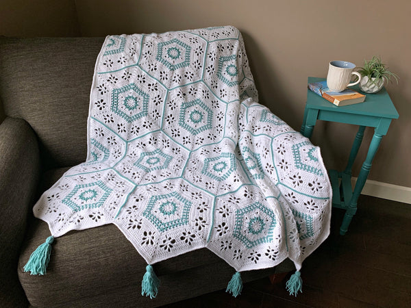 Crochet Kit - Spring Hexagon Afghan