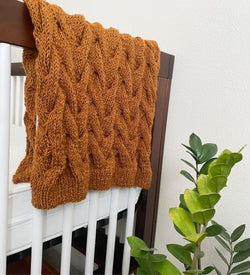 Knit Kit - Cable to Cradle Baby Blankie