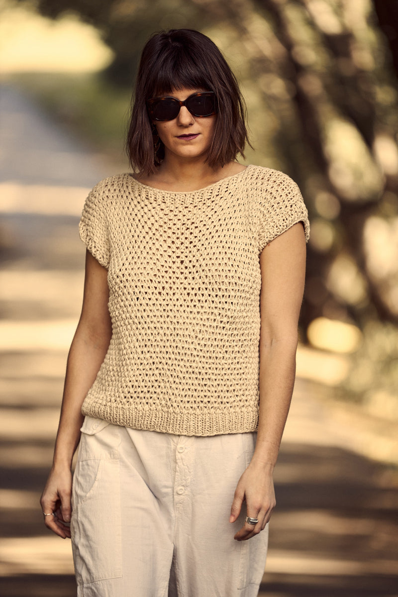 Boxy Lodge Tee (Knit)