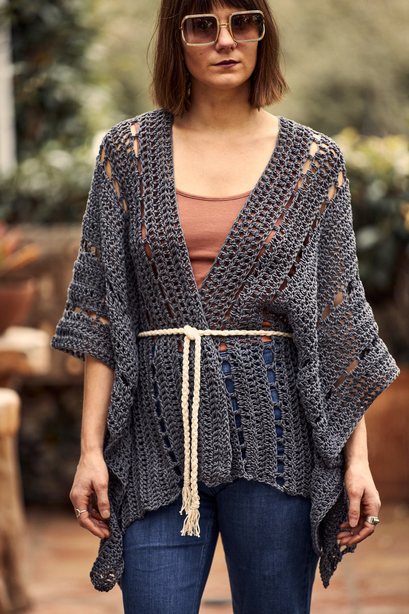 Crochet Kit - Explorers Club Poncho
