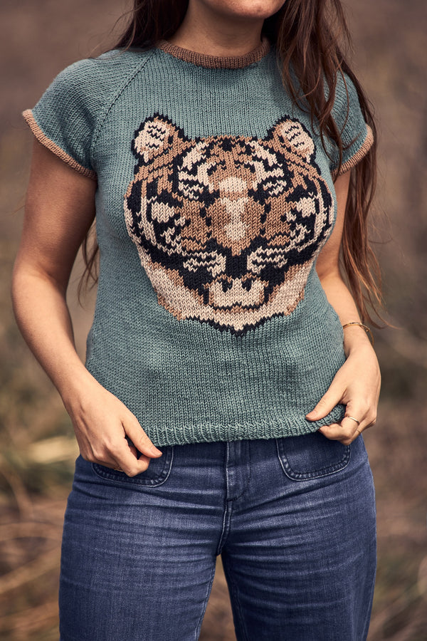 Knit Kit - Tiger Ringer Tee