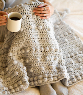 Crochet Kit - Luxe Bobbles Throw