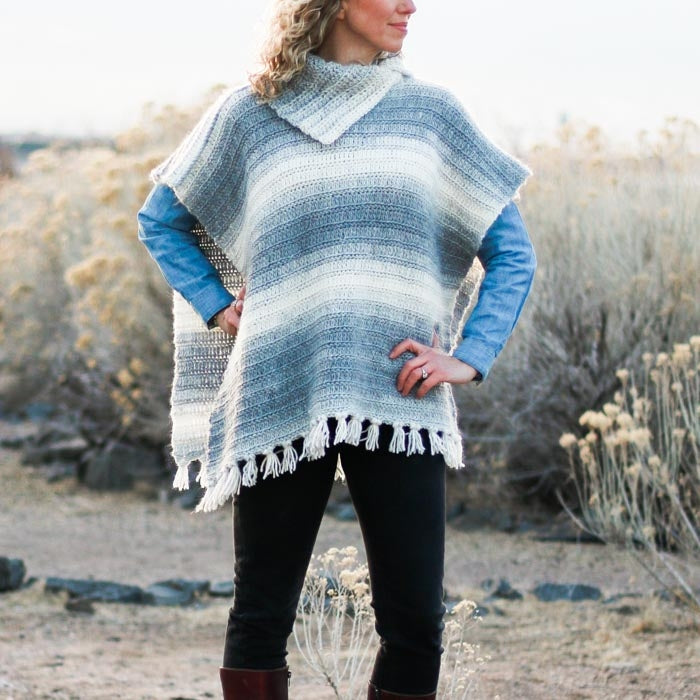 Crochet Kit - Braided Poncho