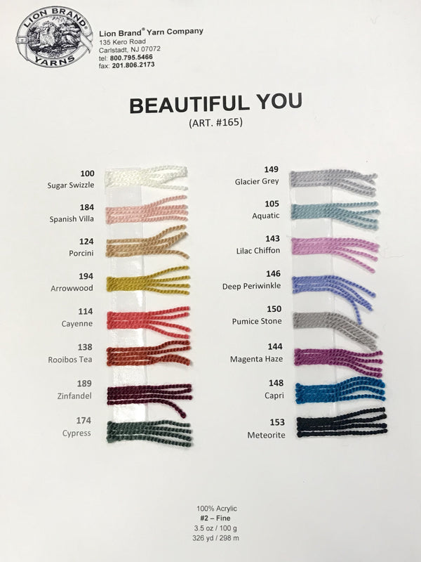 Beautiful You: Color Card