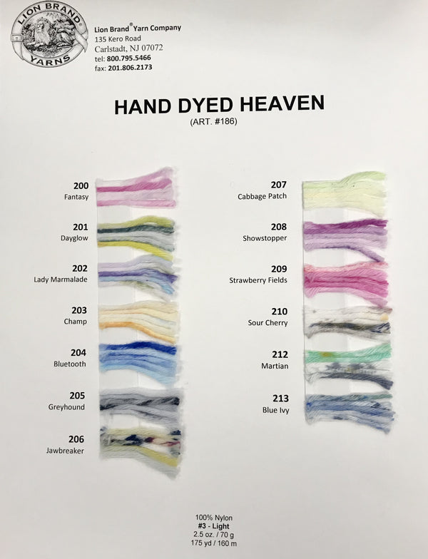 Hand Dyed Heaven: Color Card