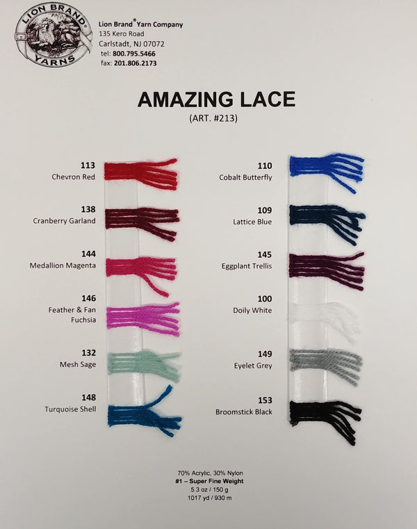 Amazing Lace: Color Card