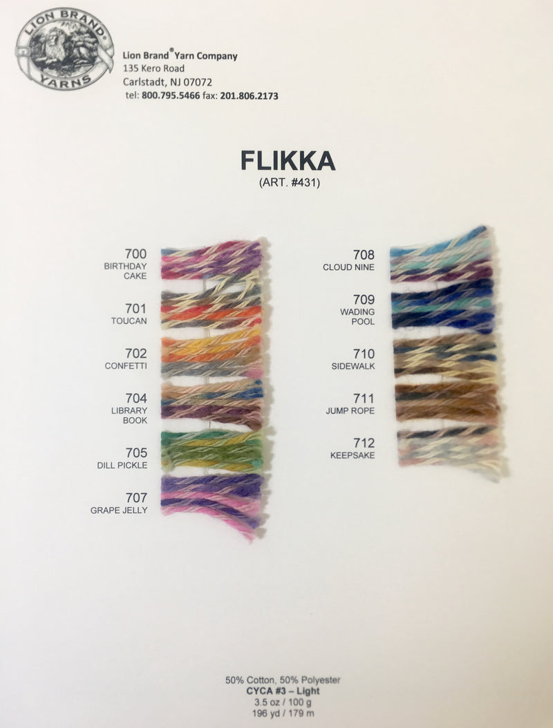 Flikka: Color Card